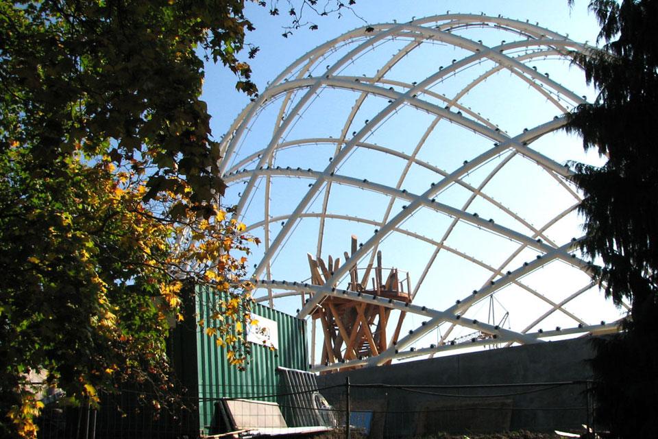 Строительство куполов ботаничесткого сада, Aarhus, Denmark