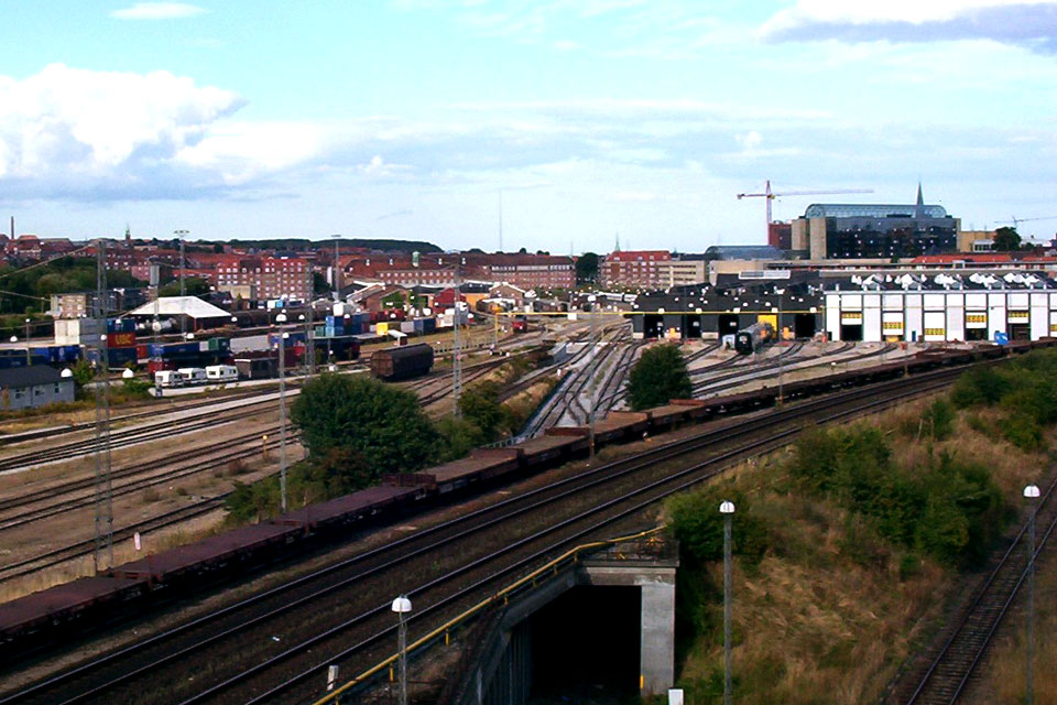 Грузовая железнодорожная станция в Орхусе, Дания
