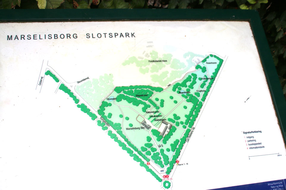 Карта королевского парка Марселисборг