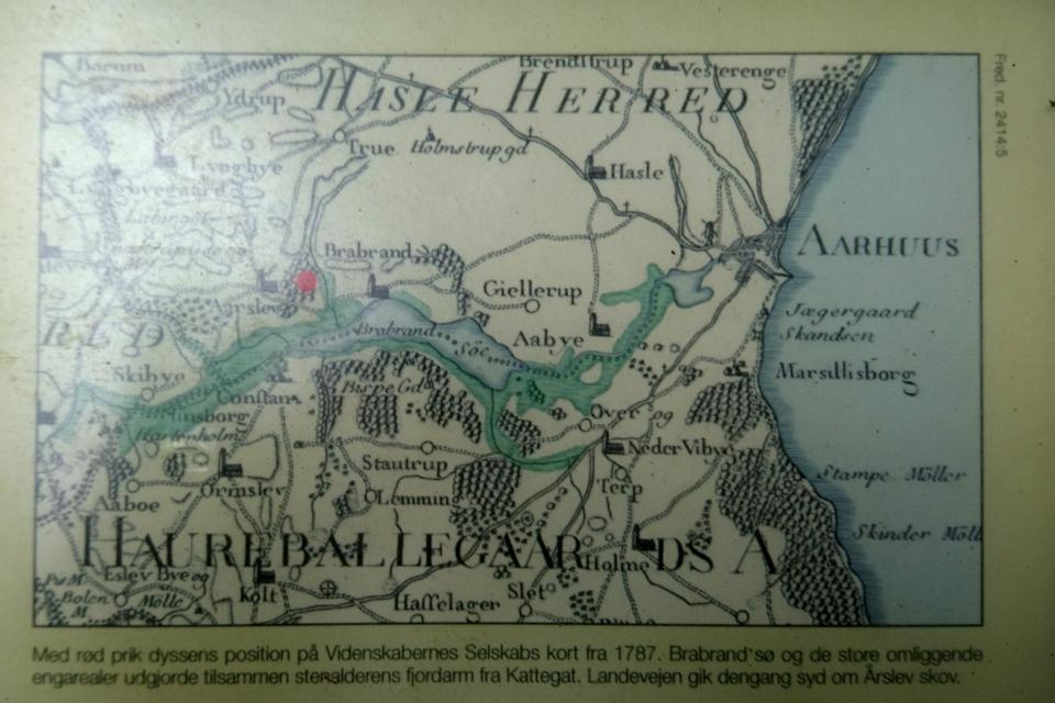Старая карта от 1787 года окрестностей около поместья Хавребалле