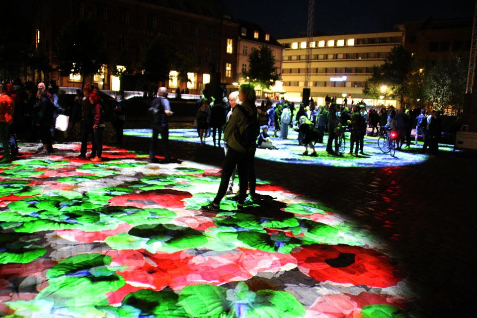Виртуальное цветочное поле на площади Биспеторвет (Bispetorvet)