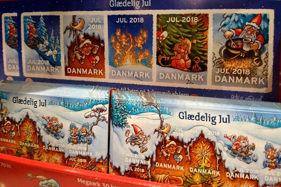 Глогг - одна из тем рисунков на рождественских почтовых марках