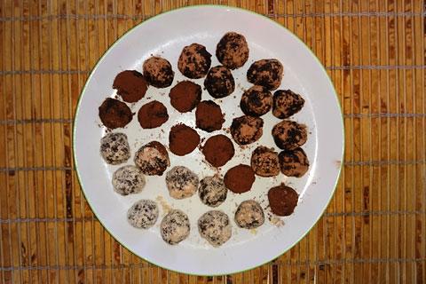 Конфеты шоколадные шарики с коноплей