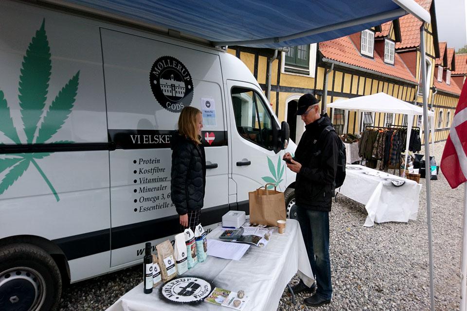 Продукты питания из конопли в Дании Møllerup gods