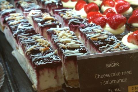 "Чизкейк с рисовым десертом рисаламанде (Cheesecake med risalamande"")"