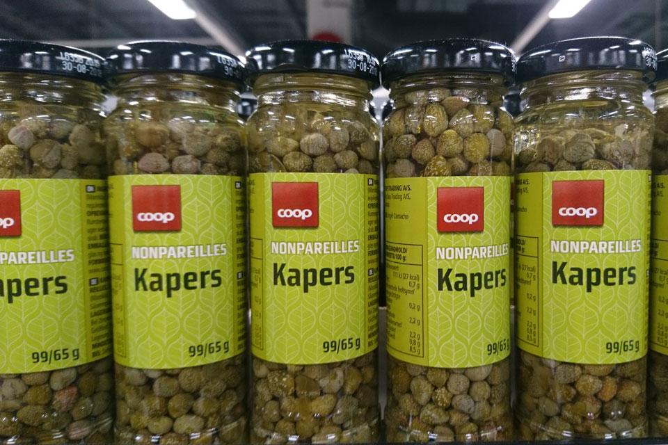 Маринованные бутончики каперсов продаются под название каперсы / kapers