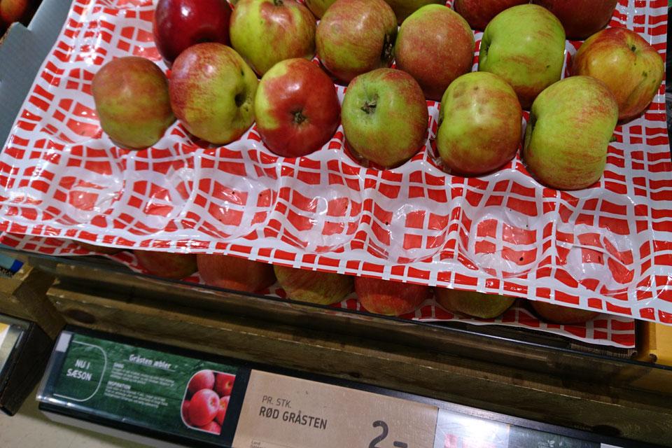 Сорта яблок в магазинах Дании: Гростен - Gråsten