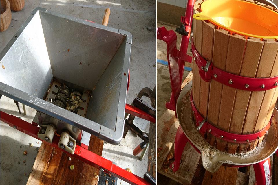 Измельчитель для яблок - дробилка и пресс, в котором отжимается яблочный сок