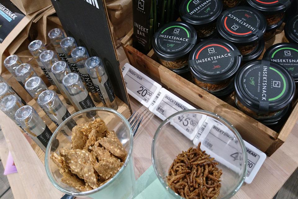 Продукты питания из насекомых в Дании