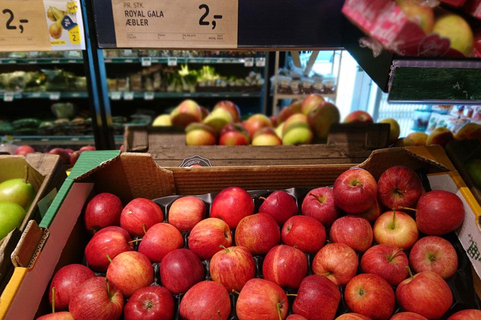 Сорта яблок в магазинах Дании: Роял Гала (Royal Gala)
