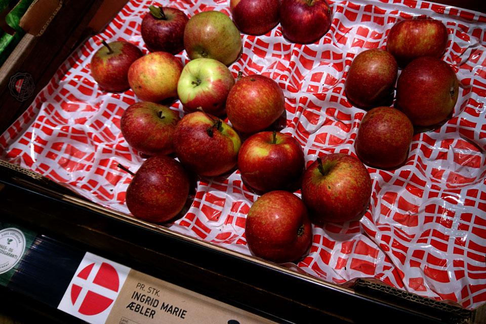 Сорта яблок в магазинах Дании Ингрид Мария - Ingrid Marie