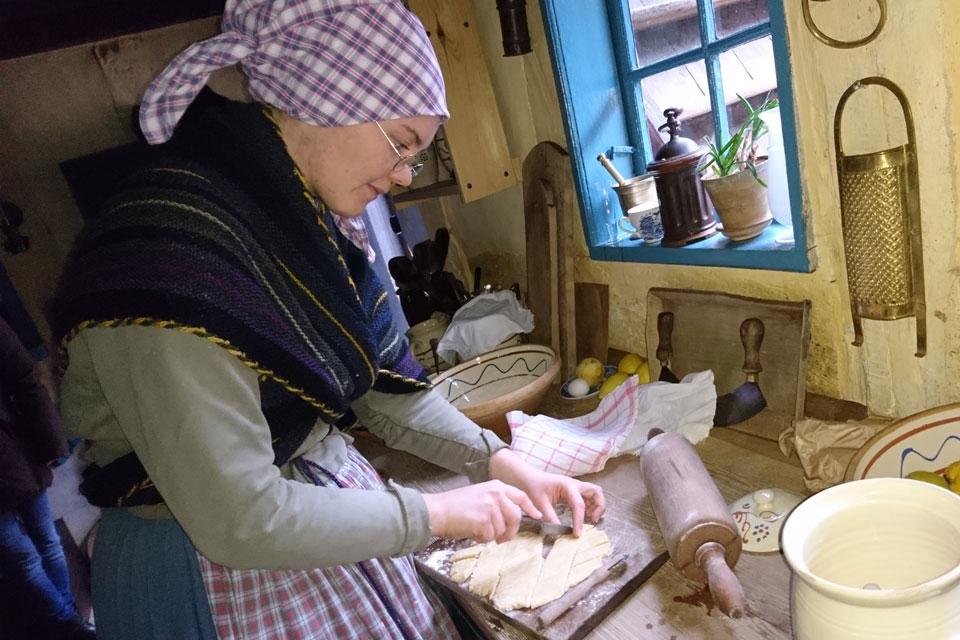 Клейнер - датское рождественское печенье Старый Город Орхус Дания