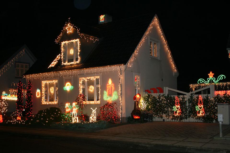 Самая наряженная рождественская улица в Дании Hinnerup Fredensgade