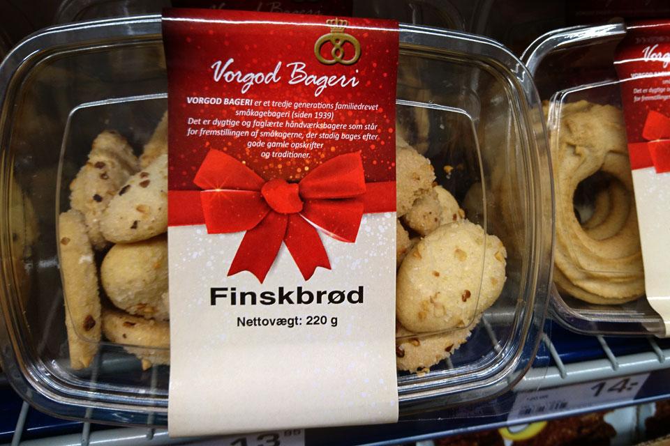 Финский хлеб - датское печенье в продаже перед рождеством