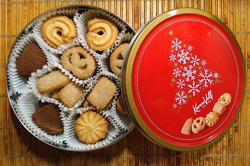 датское печенье в жестяной банке