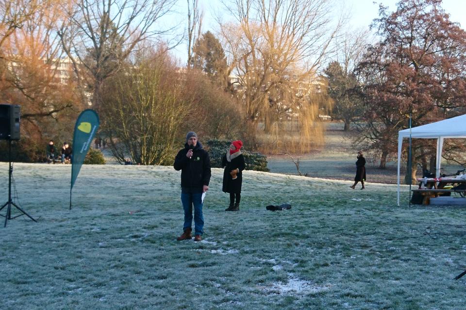Акция в поддержку Общества Охраны Природы Дании в ботаническом саду г. Орхус