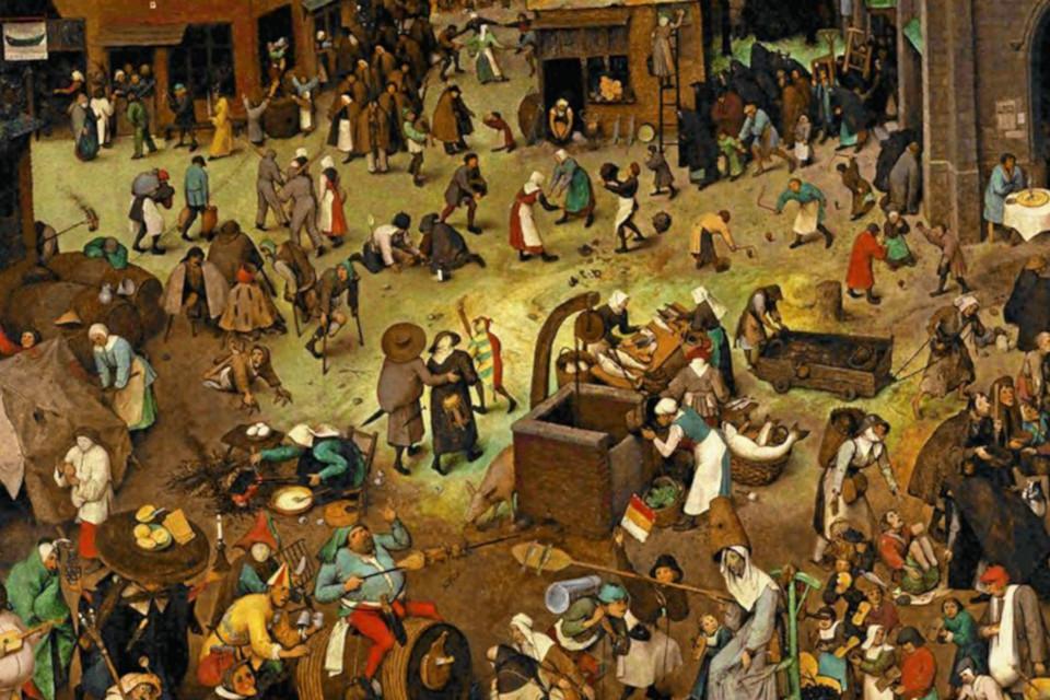 """Картина Питера Брейгеля /Pieter Brueghel """"Битва Масленицы и Поста, 1559"""