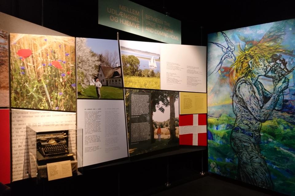 На выставке, которая знакомит с репортажами Троэльса про историю и культуру Дании.