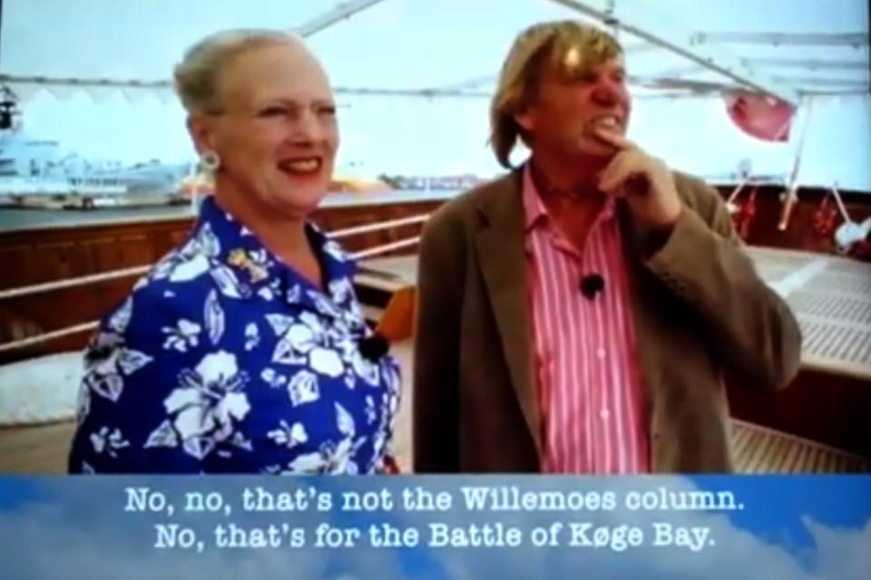 интервью у действующей королевы Дании Маргрете II на корабле Dannebrog