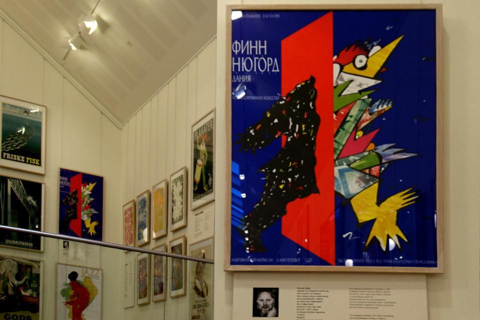 Плакат, созданный Финн Нюгорд (Finn Nygaard) для выставки в Ленинграде