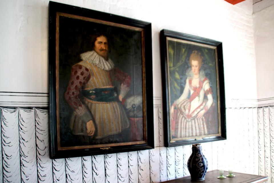 Портреты короля Дании Кристиан IV и его жены Анна Екатерина Бранденбургская
