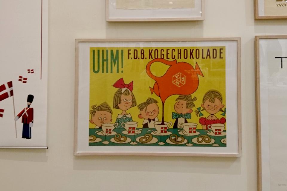Флаг Дании Даннеброг Plakat udstilling kogechokolade 7feb19 www.florapassionis.com