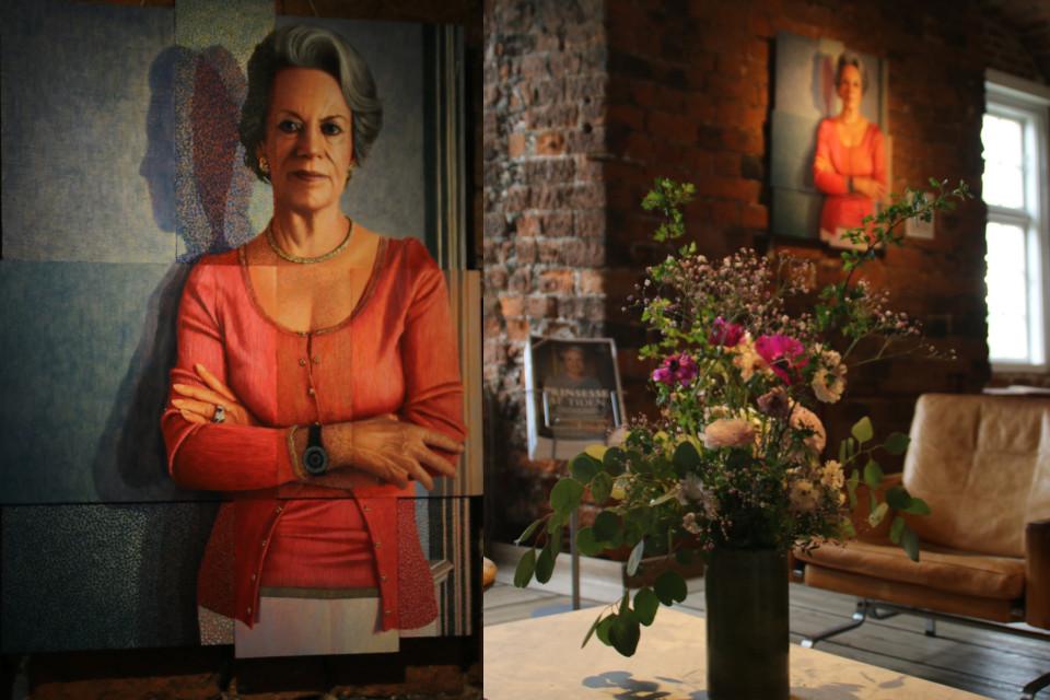 Портрет датской принцессы Бенедикта, художник Ларс Хизант (Lars Physant)