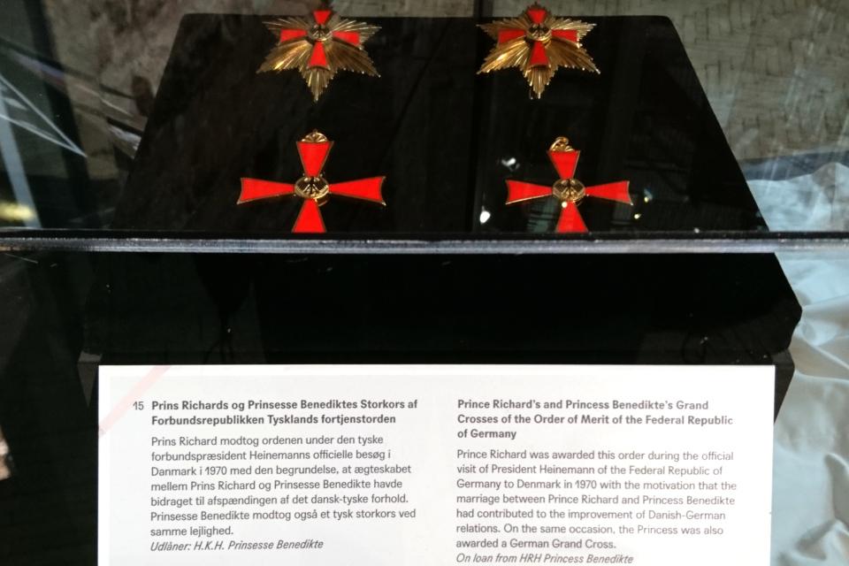 На выставке в Колдинхус представлены медали
