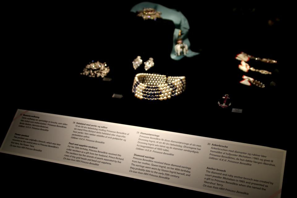 Многоярусное ожерелье-колье из жемчуга и сапфиров датской принцессы Бенедикта