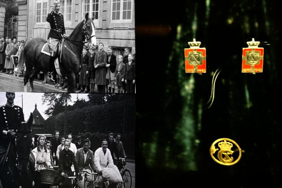 Король Кристиан Х совершает свои ежедневные прогулки по Копенгагену