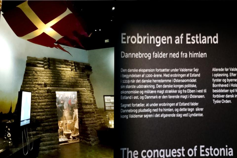 Завоевание Эстонии - флаг упал с небес. Выставка в музее Моесгор