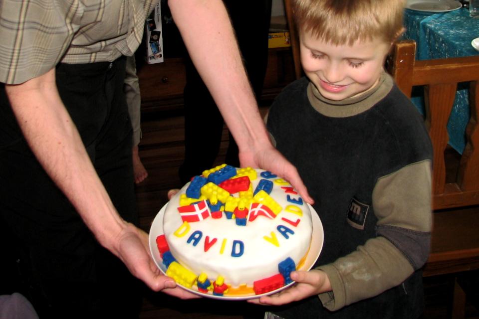 тортик с кубиками лего по случаю дня рождения моего сына Давида Вальдемар