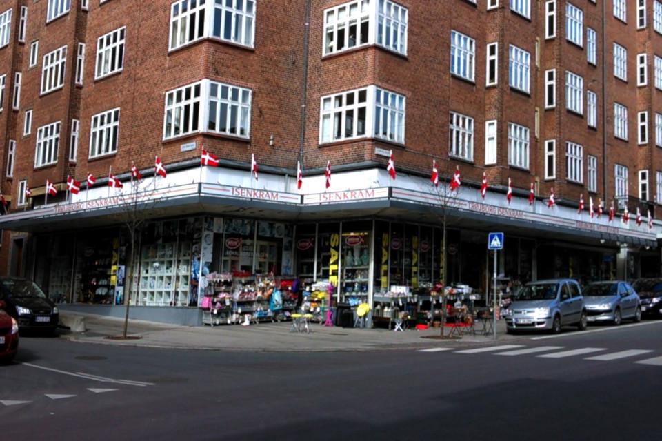 Старый датский магазин промтоваров и сувениров Isenkram Trojborg
