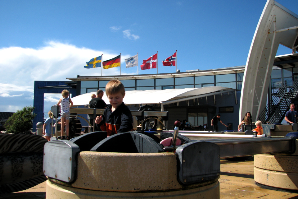 Флаги в музее акул и других морских животных Kattegatcentret