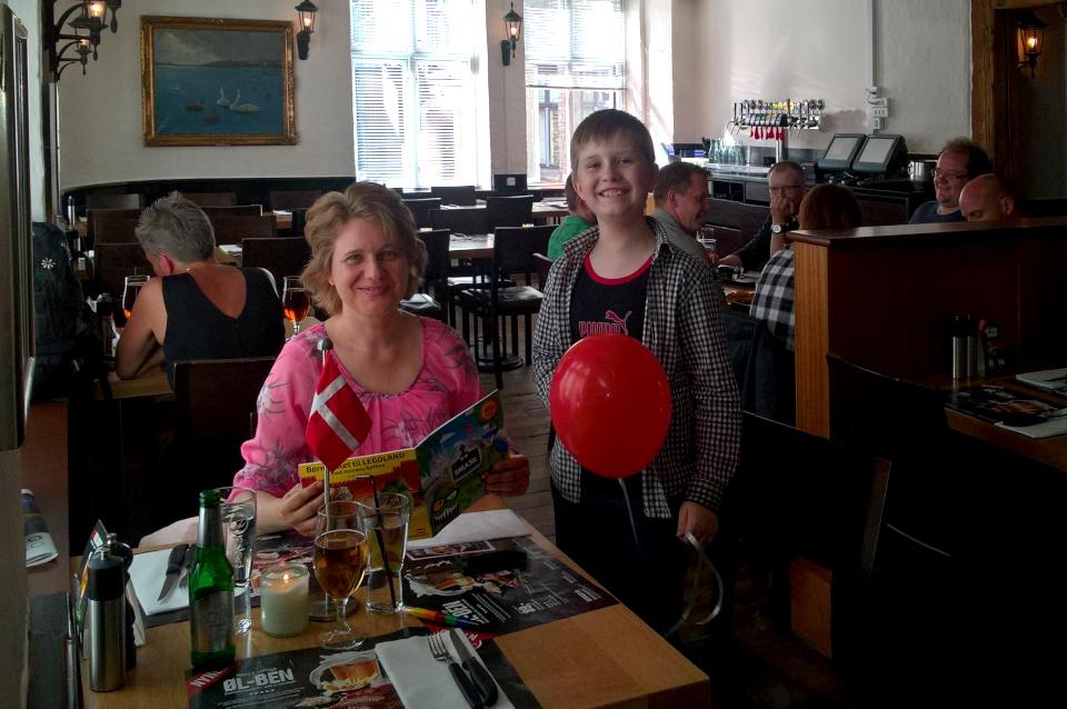 В кафе Jensens Bøfhus 12 июн. 2016, г. Орхус, Дания