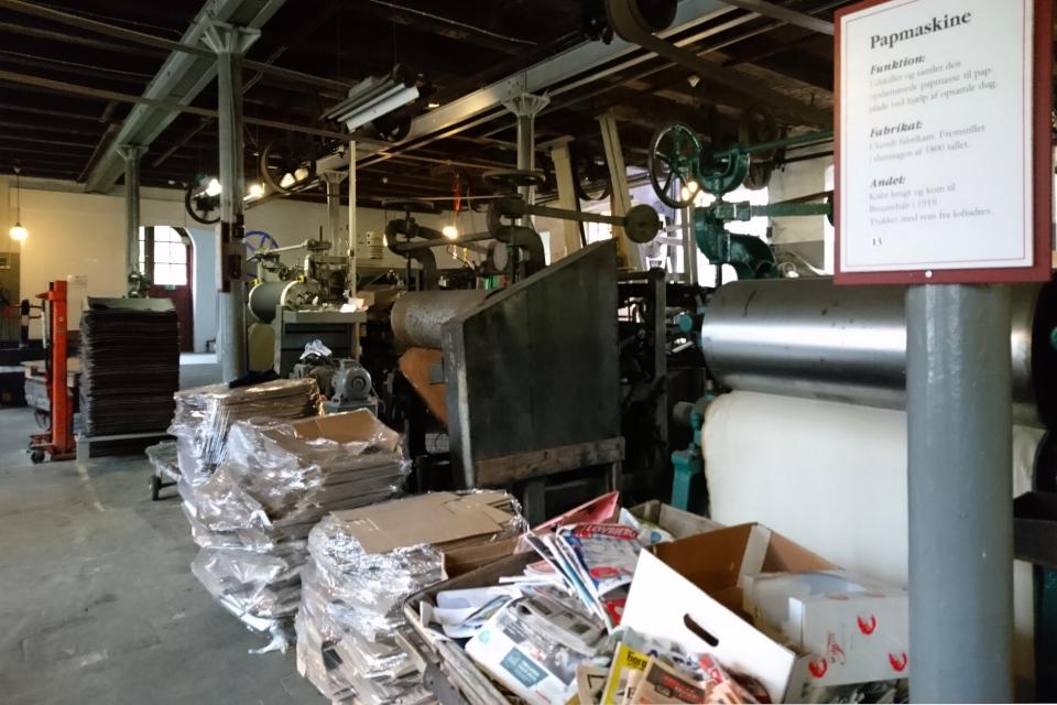 Макулатура и использованный картон - сырье для производства на фабрике Брунсхоб