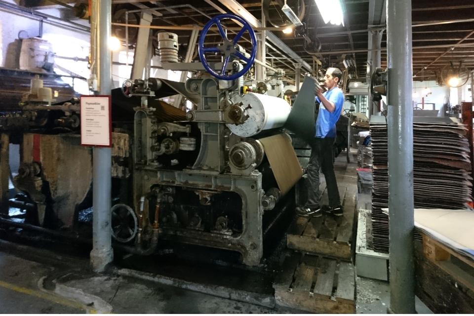 Производственный цех фабрики Брунсхоб (Bruunshaab Gl. Papfabrik)