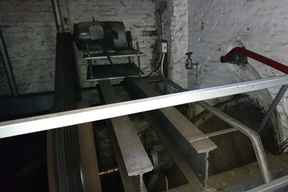 Водная турбина на фабрике Брунсхоб (Bruunshaab Gl. Papfabrik)