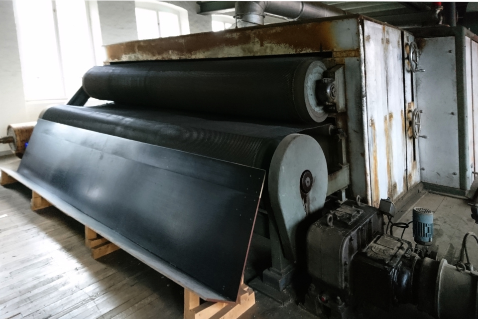 Сушильная машина на фабрике Брунсхоб (Bruunshaab Gl. Papfabrik)