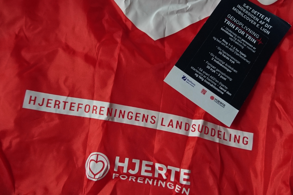 Сумка кардиологического общества Дании (дат. Hjerteforeningen)