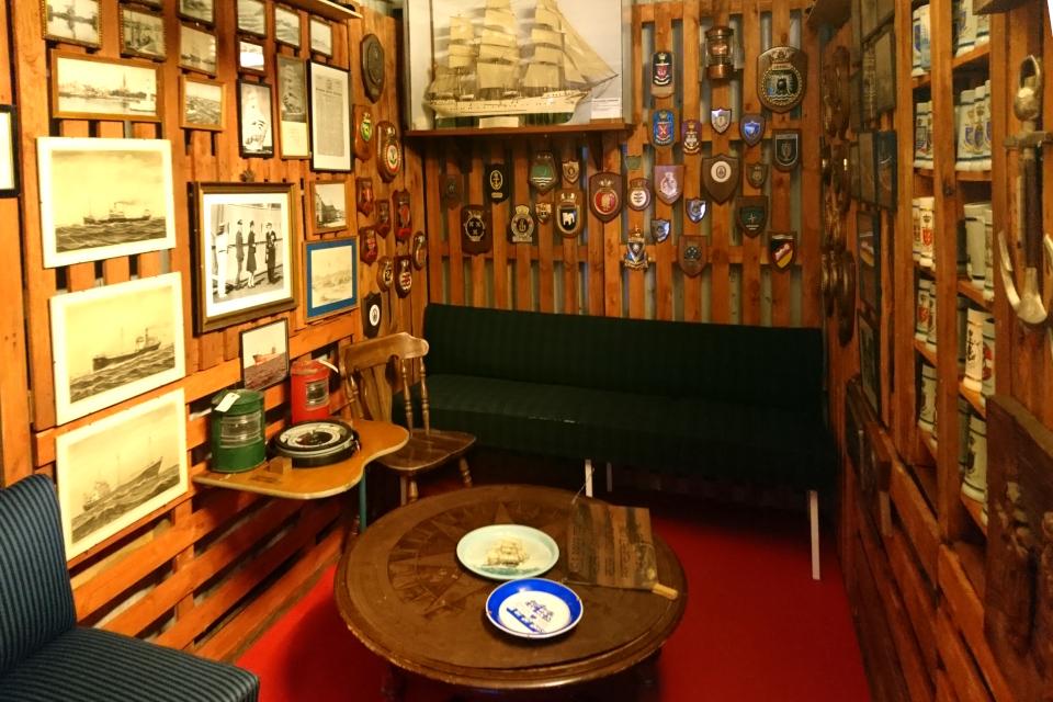 Кают-компания корабля, Морской музей в контейнерах, Aarhus Søfarts Museum