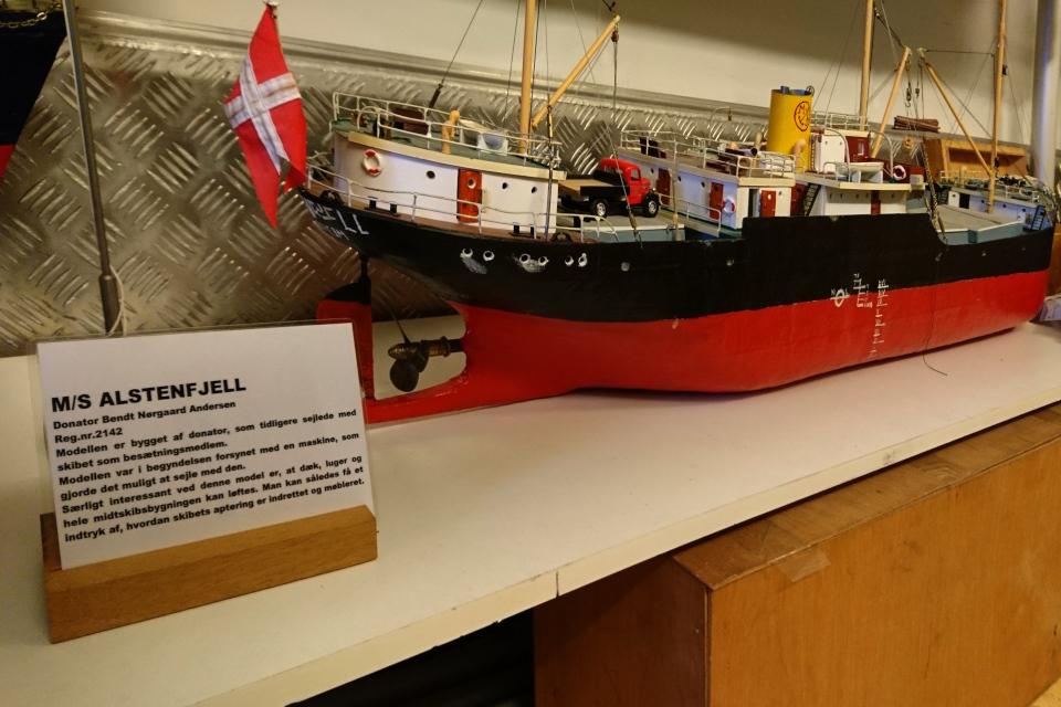 Модель корабля, Морской музей в контейнерах (Aarhus Søfarts Museum), г. Орхус, Дания