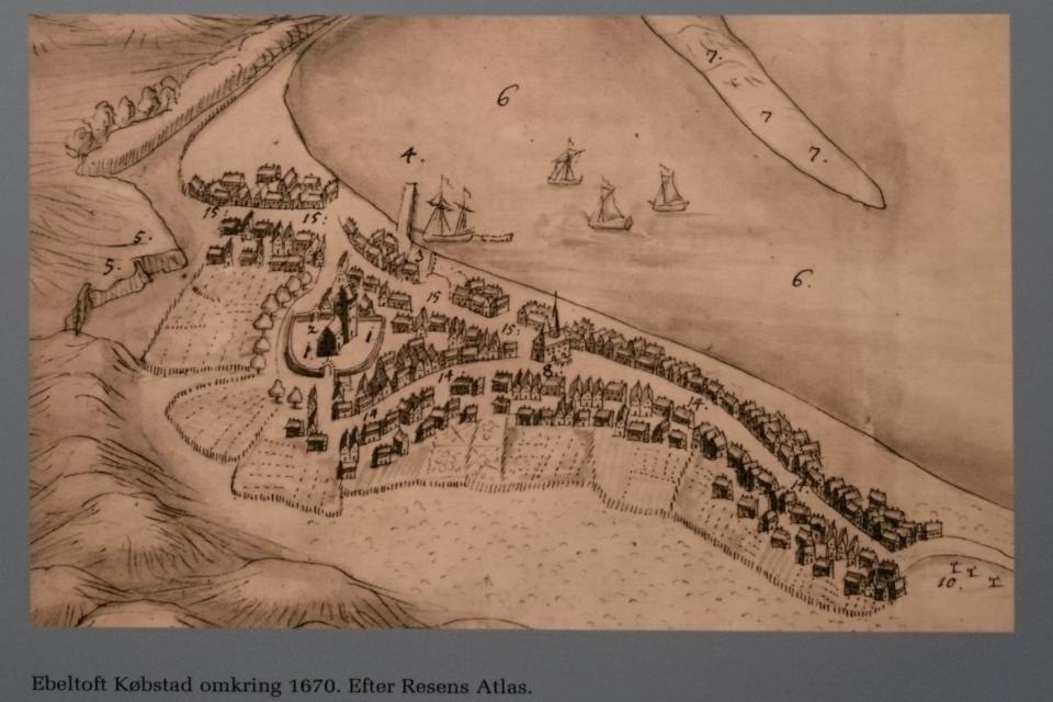 Старая карта г. Эбельтофт от 1670 года.