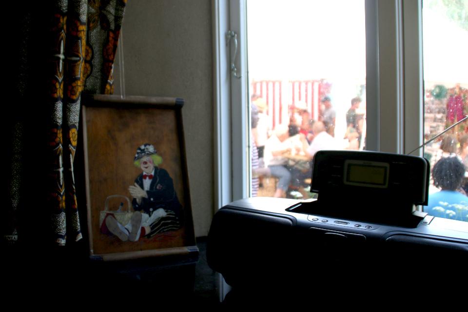 Картина с изображением русского клоуна Олега Попова, Фриланд / Friland, Дания