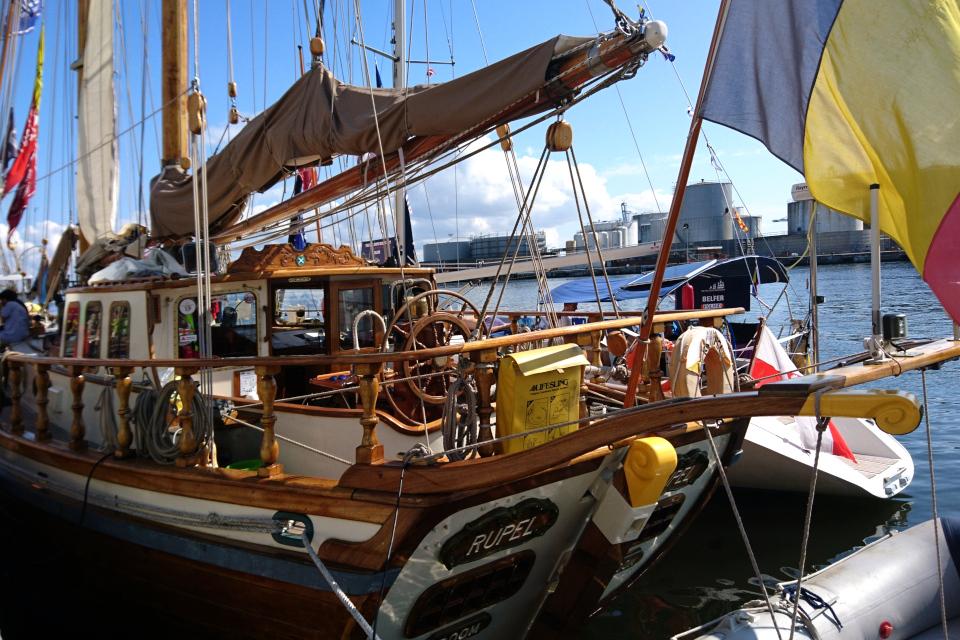 Бельгийский парусник Rupel . Фото 2 авг. 2019, порт г. Орхус / Aarhus, Дания