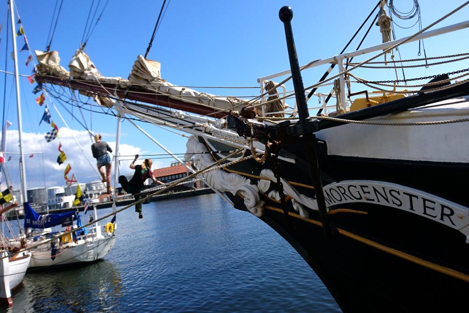 Парусник Morgenster, принимающий участие в регате Tall Ships' Races
