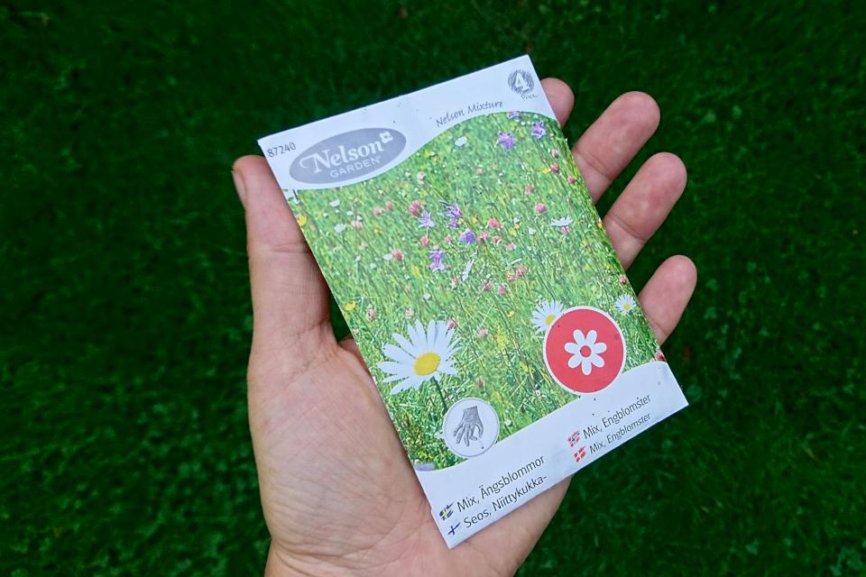 Упаковка с семенами диких полевых растений, Дания