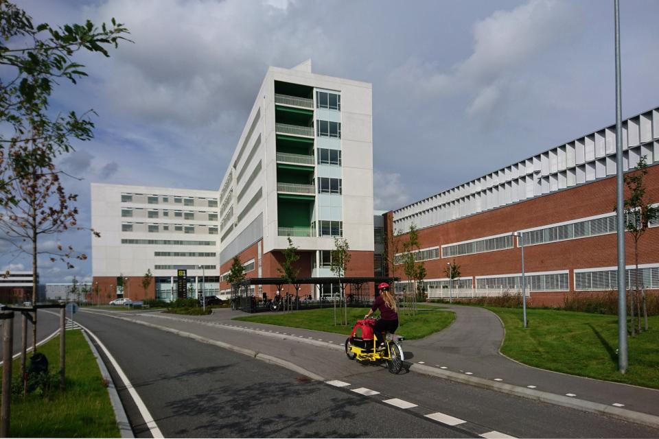 Велосипедные дорожки в больничном городке университетской больницы г. Орхус