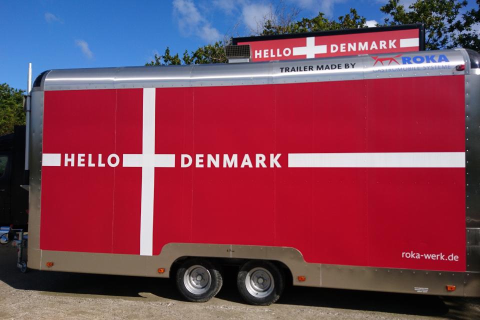 """Торговый передвижной прицеп или мобильное кафе """"Hello Denmark"""""""