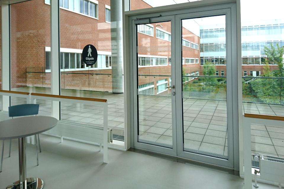 Пешеходная дорога (Gågade) на втором этаже здания